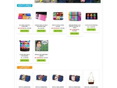 Ecommerce website for Lifestyle Products company