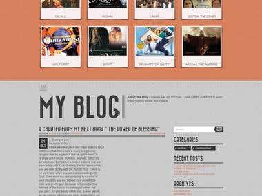 Celebrity Website on Bootstrap