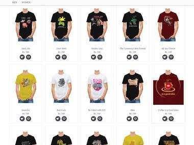 Ecommerce Website for Tshirt Company