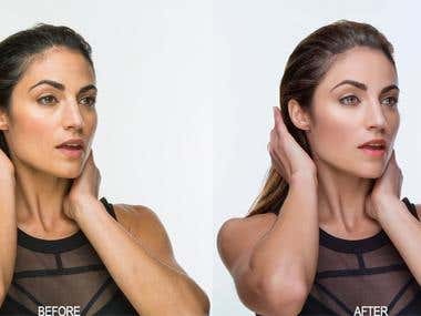 high-end photo retouching