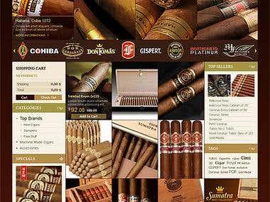 Cigar HikaShop Template