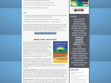 Wordpress - Lights On Book - Book, Author & Consulting