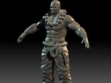 Monk Warrior - 3D Sculpt