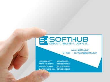SoftHub Visiting Card Design