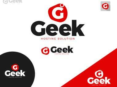 Geek Hosting solution Logo Design