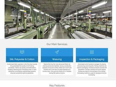 Reshma Textile Working Website in Wordpress