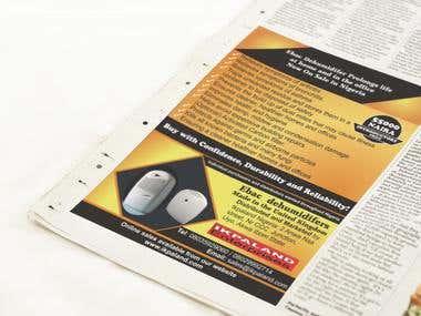 Newspaper Ad Design