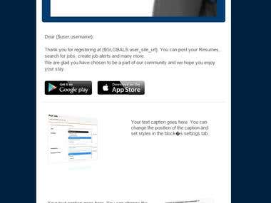 Email Template Submitted in Reconnect In contest