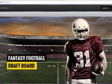 Fantasy Footbal Web APP