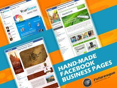 Hand-made Facebook pages