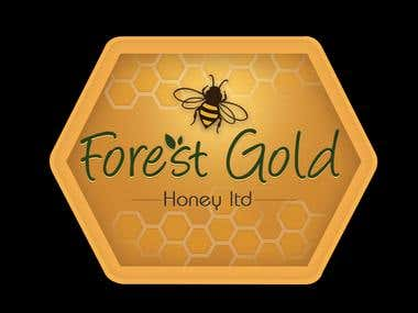 Logo Concept_Forest Gold Honey