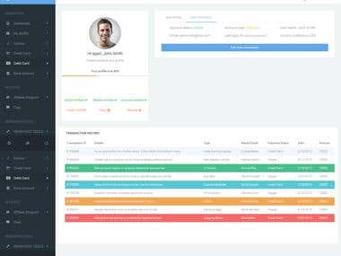 An User Profile Page for An Admin Dashboard