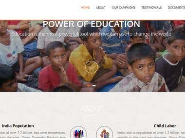 Small NGO website