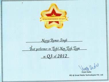 Best performer award