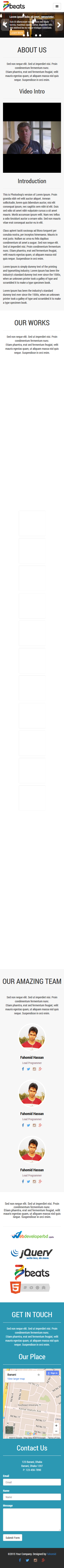 77beats.com Basic Portfolio HTML5 Theme