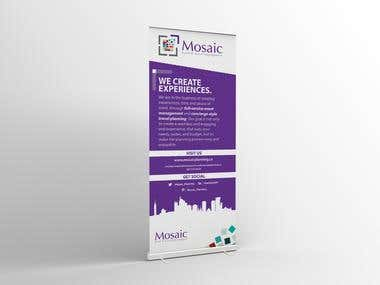 Mosaic - Pull Up Banner Design