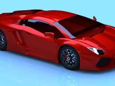 Lamborghini aventador lp 700  modeling & rendering