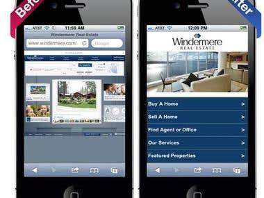 Mobile Website Sample