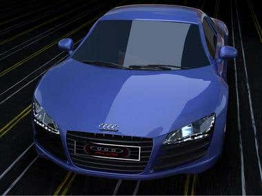 3D Audi r8   modeling & rendering