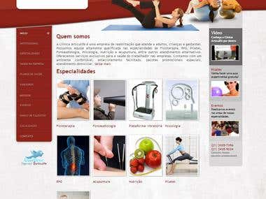 Website for a physiotherapy clinic