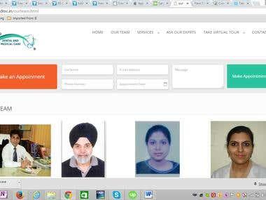 Online registration for doctor