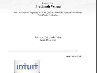 Quickbooks ProAdvisor Certification