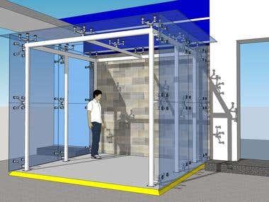 Glass ATM Enclosure Design
