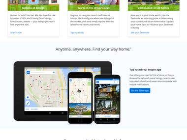 Responsive Real Estate site and App