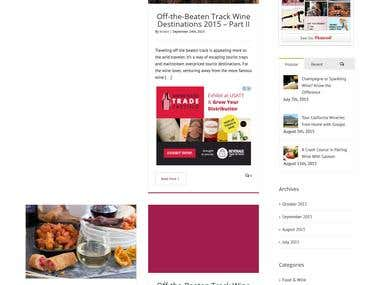 Responsive Blog site for wine lovers