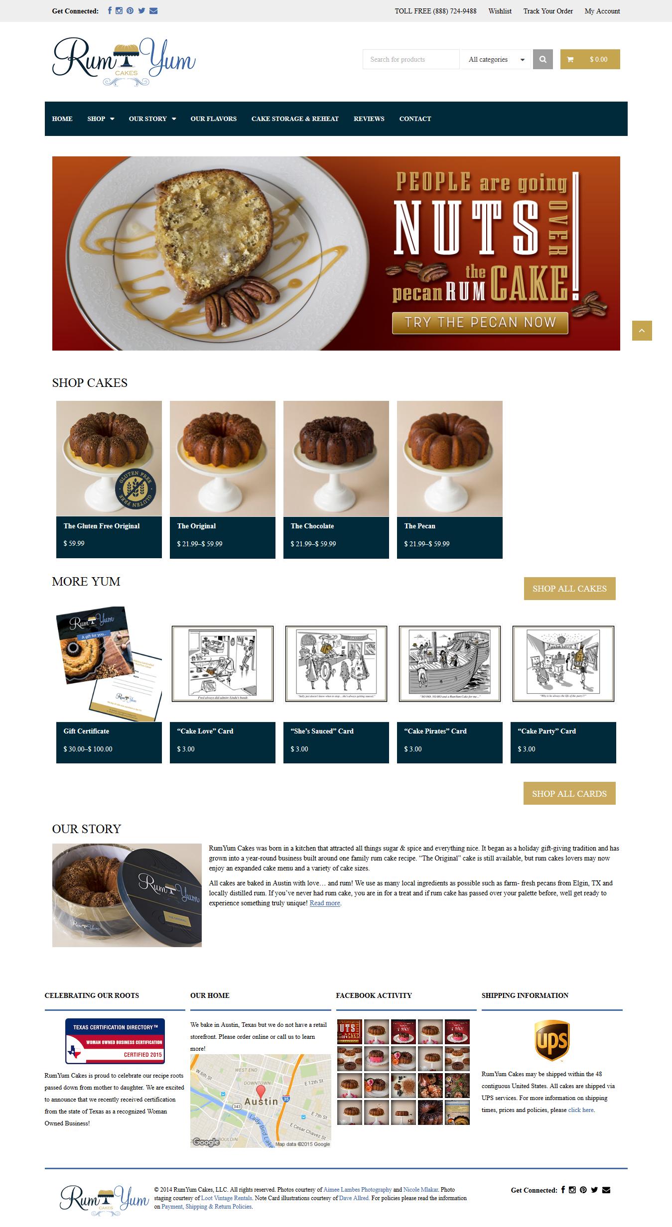 Website for an Austin Texas Restaurant