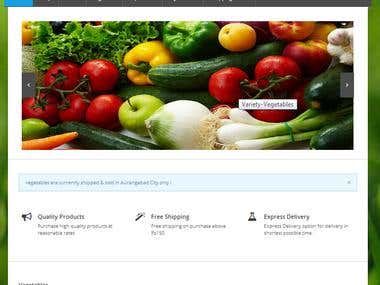 online Vegetable store in wordpress