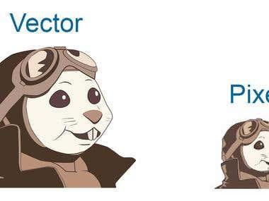 pixel to vector