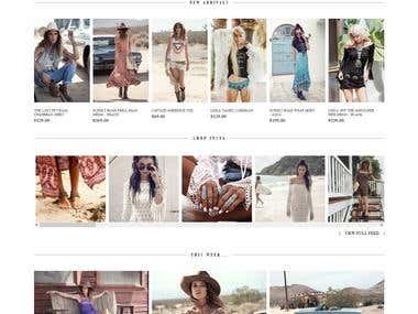 Shopify Website for fashions products