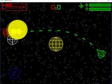2D Space War Game in C++/OpenGL/SDL