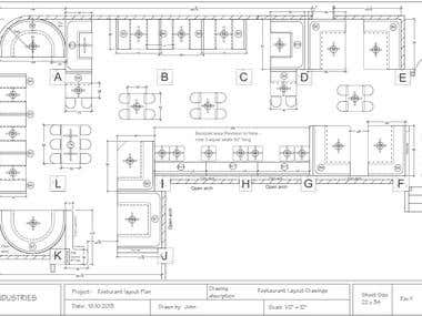 Layout - Interior design floor plan.