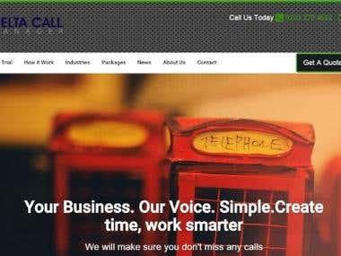 Delta Call Manager Web Site + Client Portal