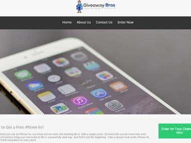 iPhone 6 Giveaway website
