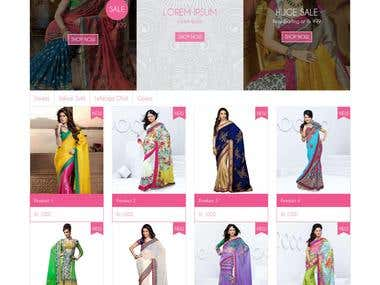 PSD to HTML - Indian Ethnic Sarees