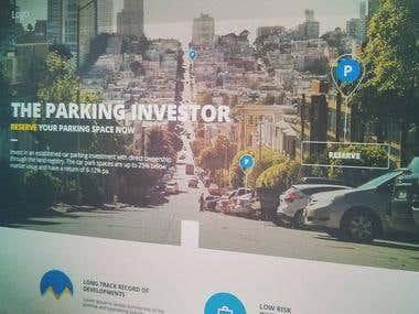 Website Mockup - Car Parking Investors