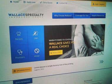 Website mockup - Insurance group