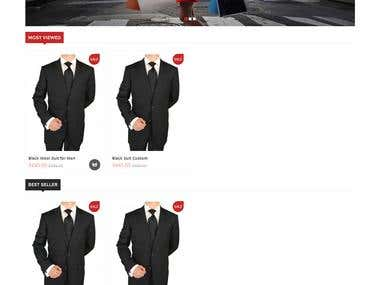 Custom suit design - Opencart