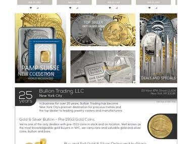 Bullion trading for golds and silver coins - opencart work