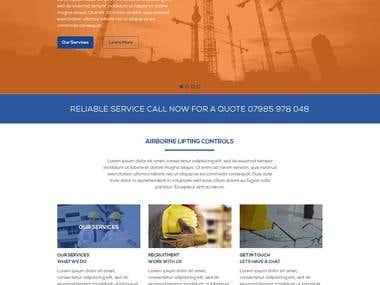 Custom WordPress Theme Development for Airborn Website