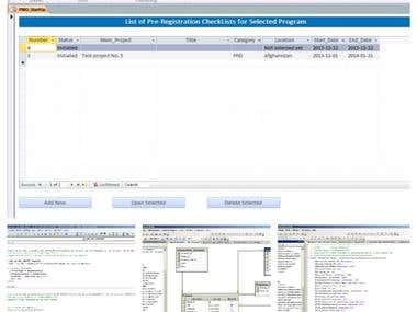 Front-end UI = MS Access, back-end database = MS SQL Server