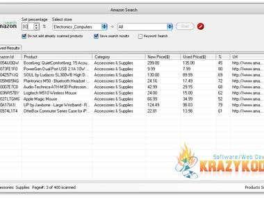 Amazone Search-Price Comparison Software
