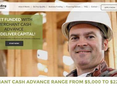 Website for business funding provider