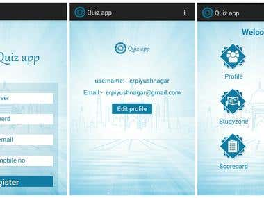 Quiz Mobile application