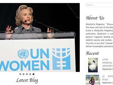 Fashion Magazine Website for a Media company in New York USA