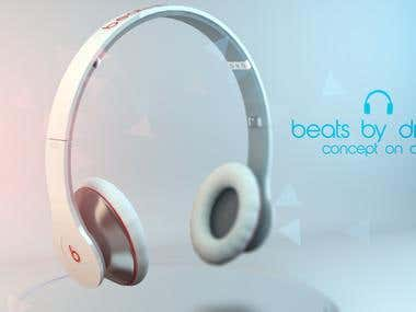 Beats by Dr. Dre Modelled in Cinema 4D
