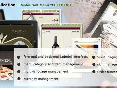 IPad Restaurant Chef Menu